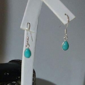 Jewelry - Turquoise Earrings in Sterling Silver